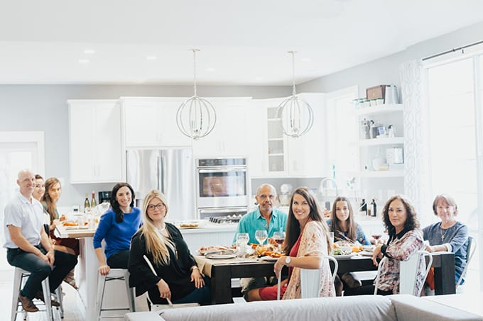 Friendsgiving celebrated on a Monday, with a weekend to prep ahead among friends and family