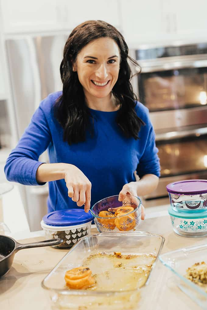 Make sure to save Thanksgiving leftovers in glass containers for easy heating!