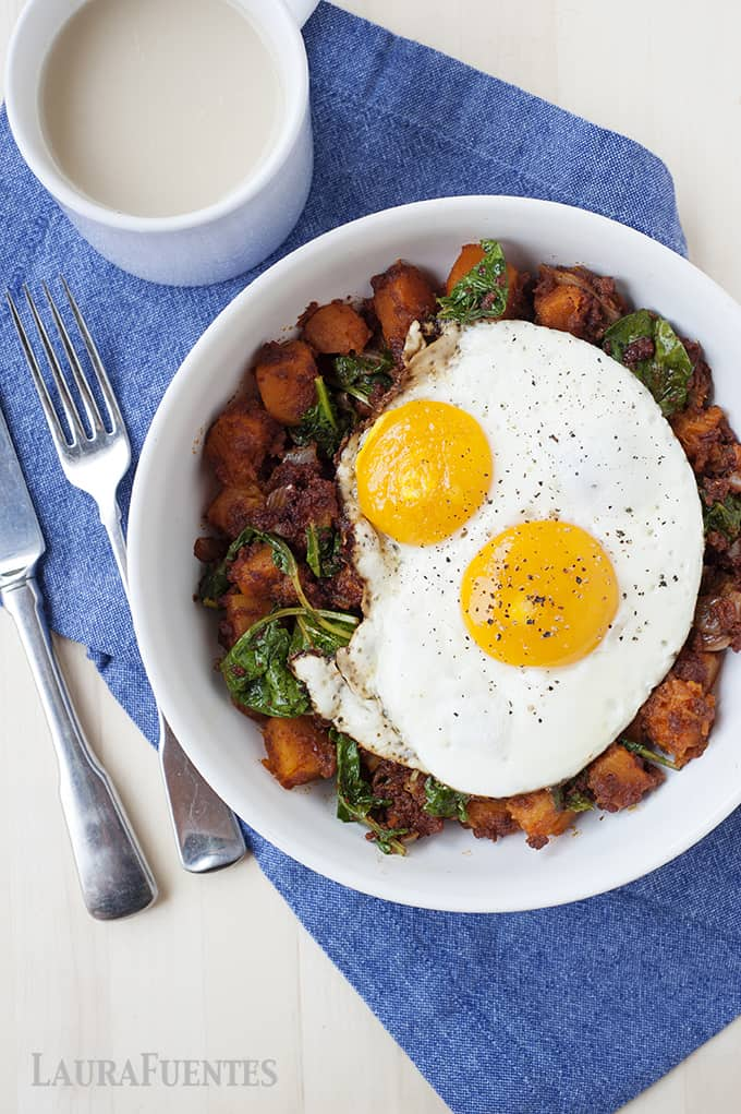 Butternut Squash and Chorizo Hash
