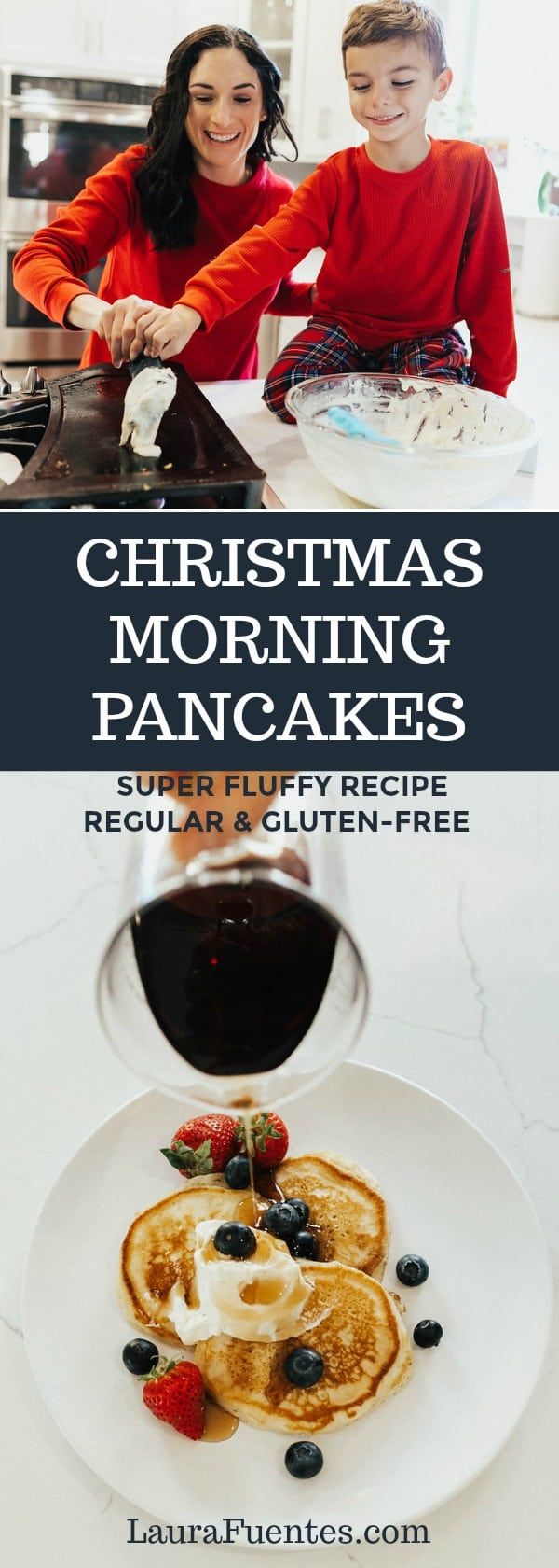 Holiday weekends call for lots of coffee, laughs, and pancakes! Mostly, pancakes. You can find the original, and gluten-free pancake batter recipe is this post. They are the best, fluffy pancakes you'll ever eat.