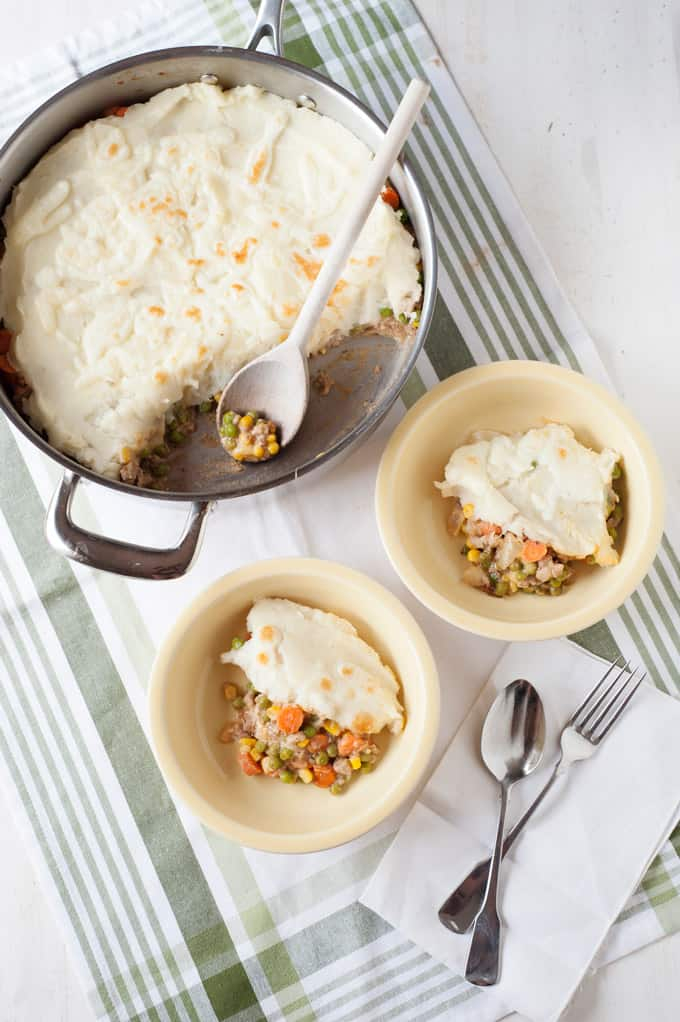 Turkey Skillet Shepherd's Pie