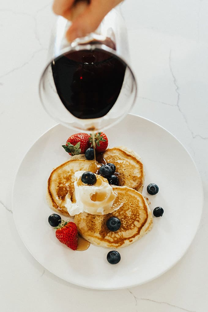 Hands down, the best and most fully pancakes you'll eat. Whether you make the regular or gluten-free version they are both incredible!