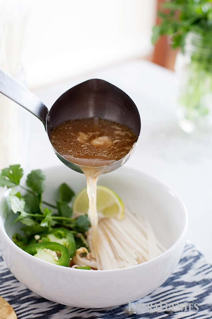 Easy and Kid friendly homemade slow cooker pho recipe for busy weekenights