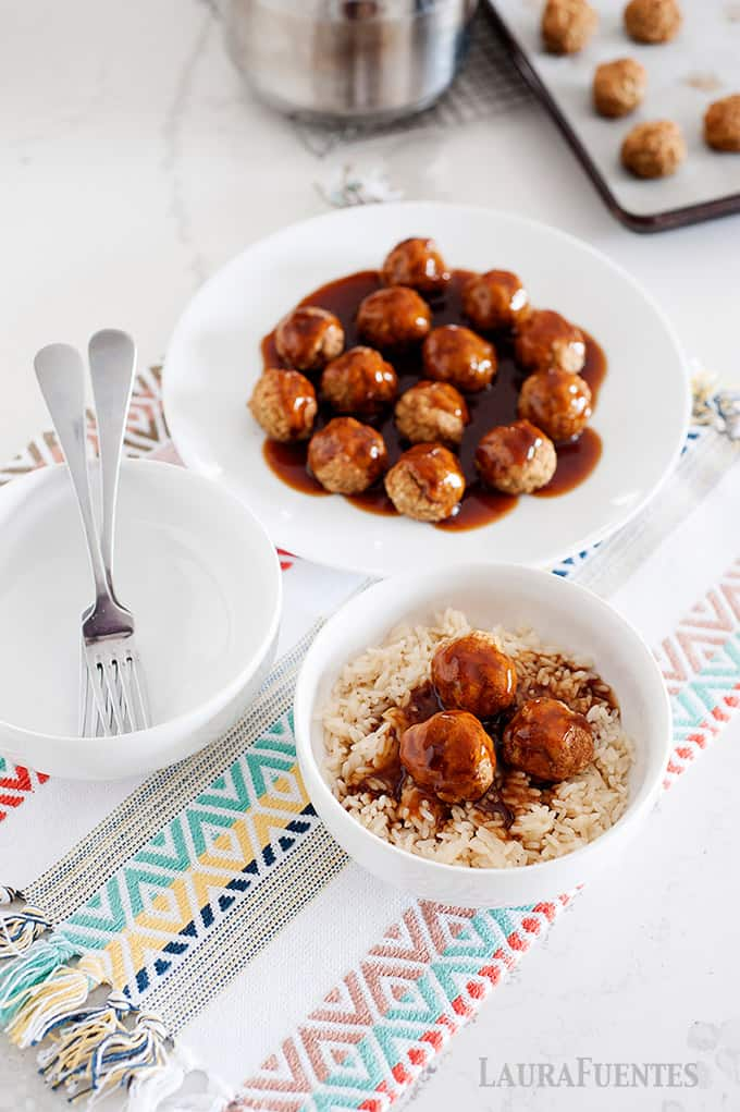healthy sweet and sour meatballs