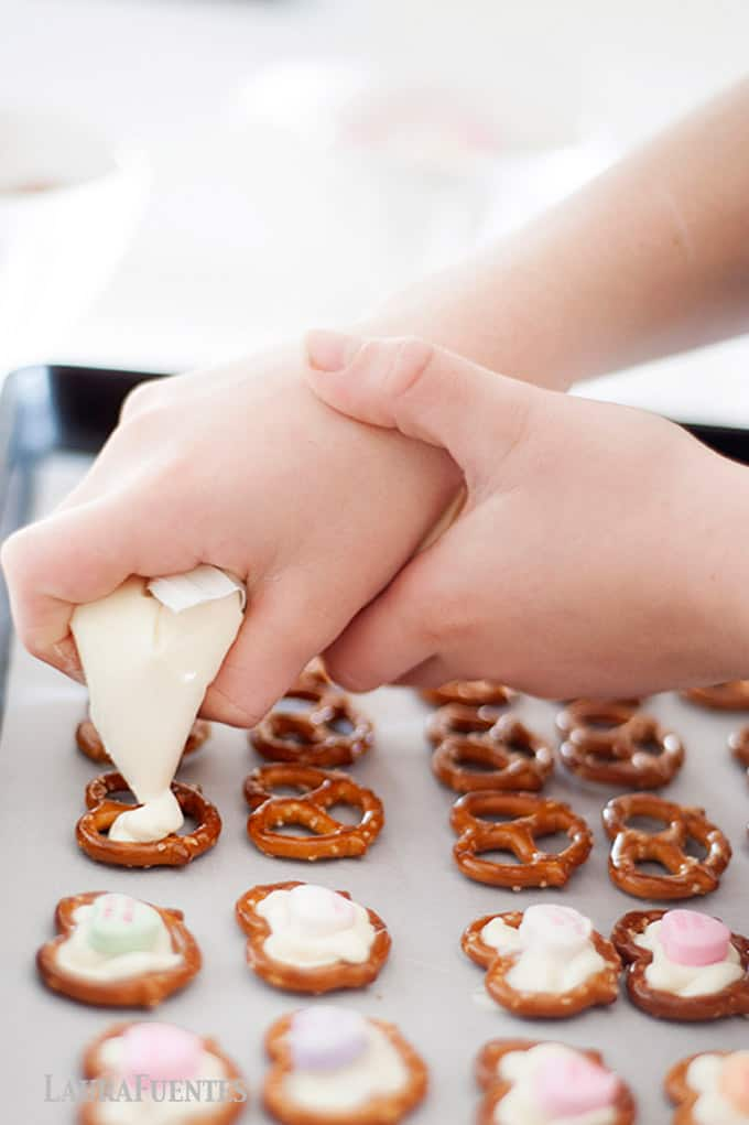 valentine's day craft for kids pretzel hearts