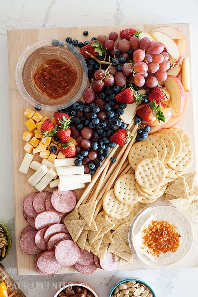 How to make an easy sweet and savory antipasto platter