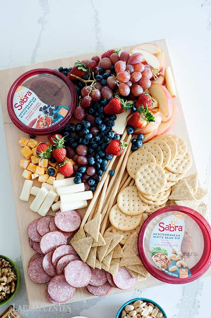 easy antipasto platter with sabra hummus