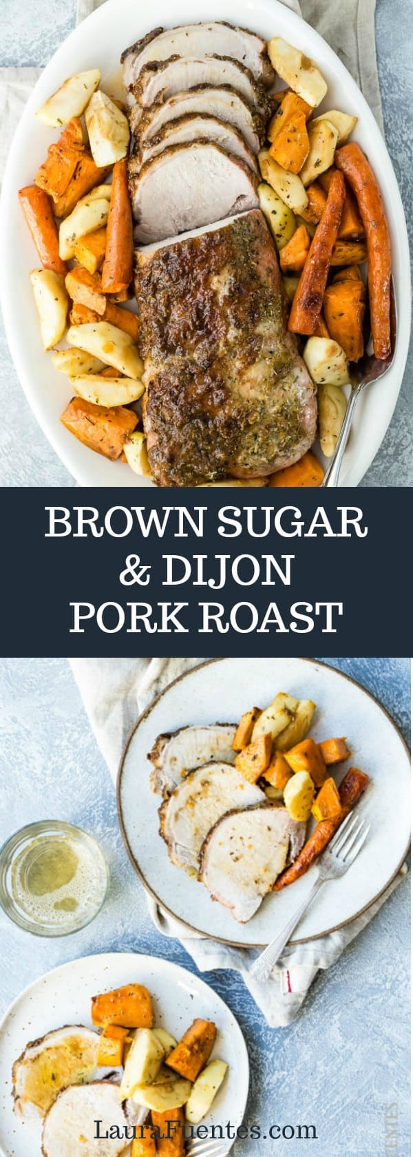 Pork Roast for Beginners with a Brown Sugar and Dijon glaze that tastes like you slaved in the kitchen