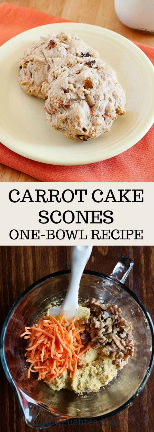 Sign me up for an easy carrot cake scone recipe.