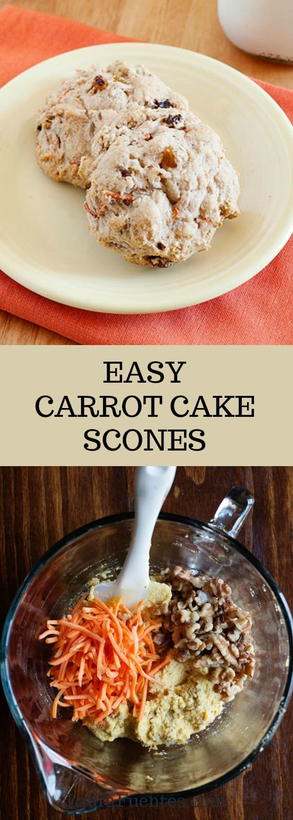 Easy carrot cake scones? Yes please! Everything you love about carrot cake now portable.