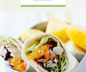 A healthy lunch right around the corner with this easy asian chicken salad lunch idea!