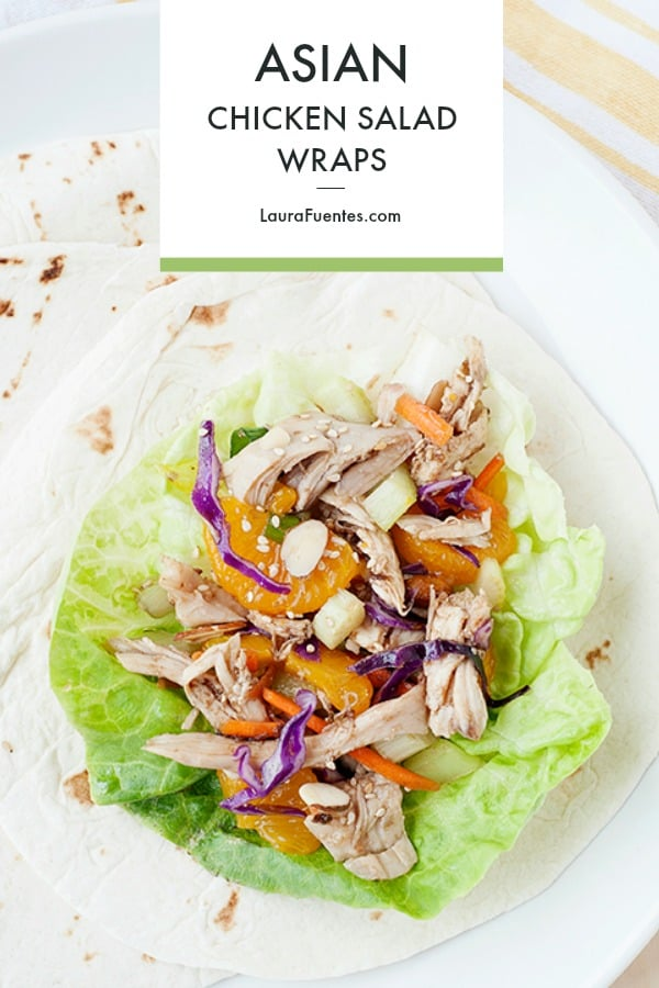 Make this healthy Asian Chicken Salad Wrap is an easy healthy lunch idea!