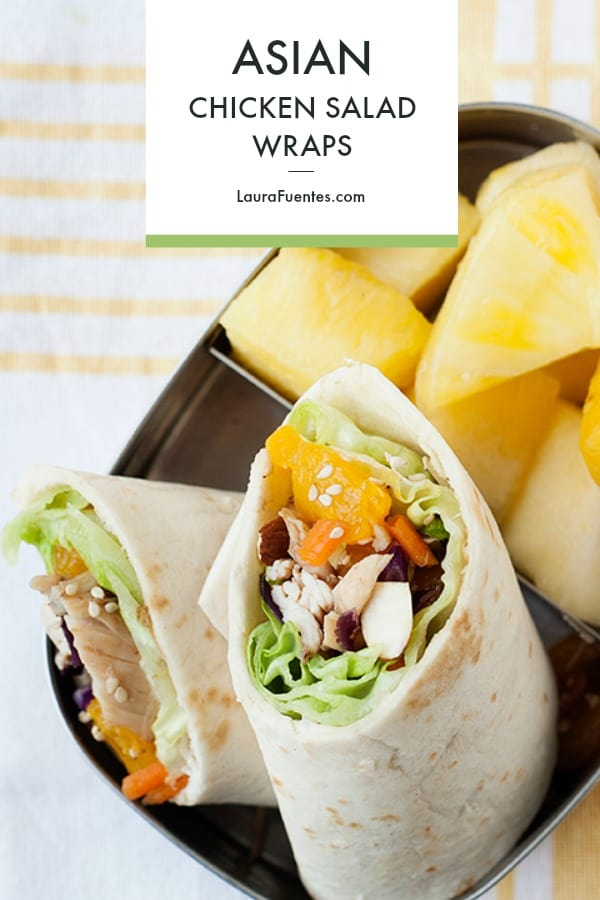 This healthy Asian Chicken Salad Wrap is an easy healthy lunch idea!