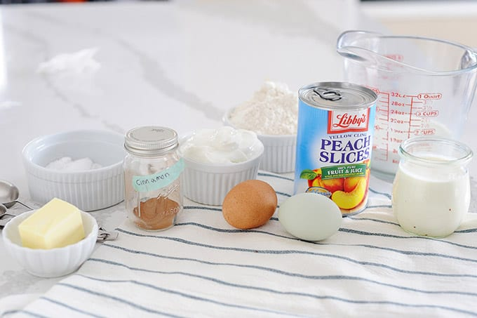 peaches and cream waffles ingredients
