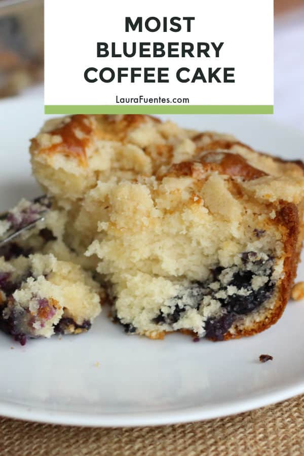 This blueberry coffee cake recipe made with yogurt is moist, crumbly, and easy to make! It also feeds a crowd, so it's a win win!