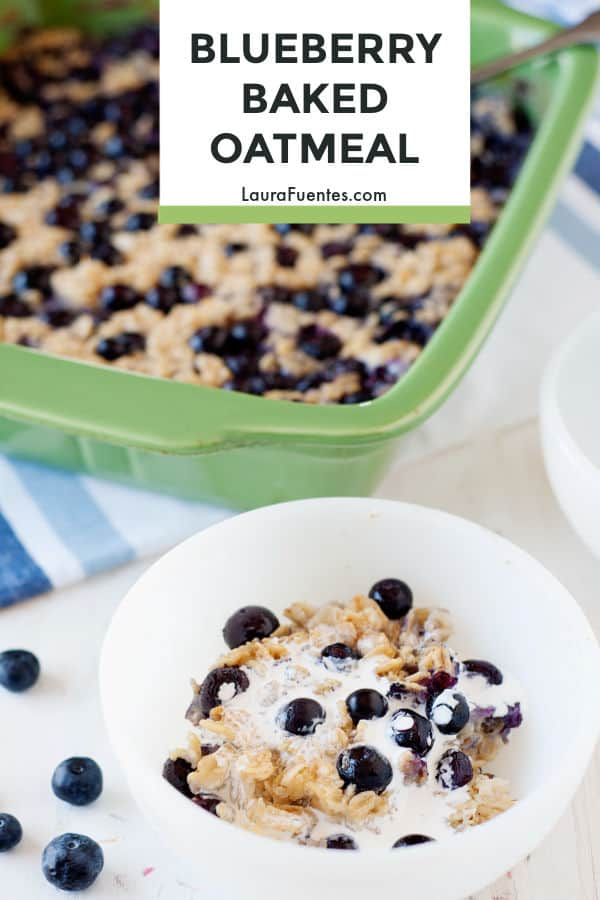 A hearty and healthy oatmeal recipe that's ridiculously delish. This blueberry baked oatmeal recipe tastes like cake without the guilt!