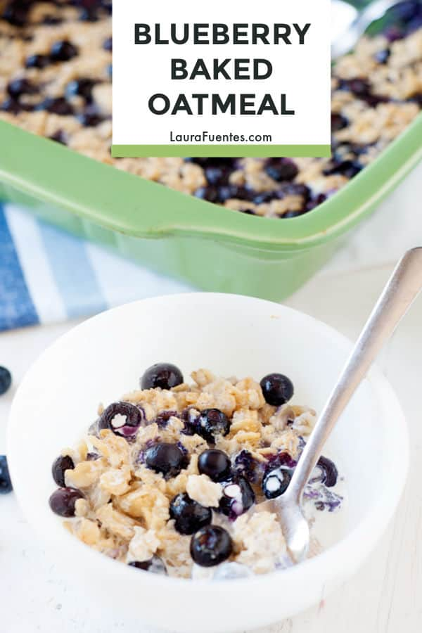 A hearty and healthy oatmeal recipe that's ridiculously easy to make. This blueberry baked oatmeal recipe tastes like cake without the guilt!