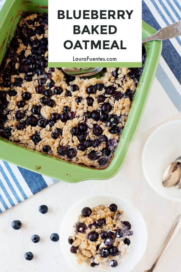 Hearty and delicious! This blueberry baked oatmeal recipe is just the type of thing you want to add to a healthy breakfast.