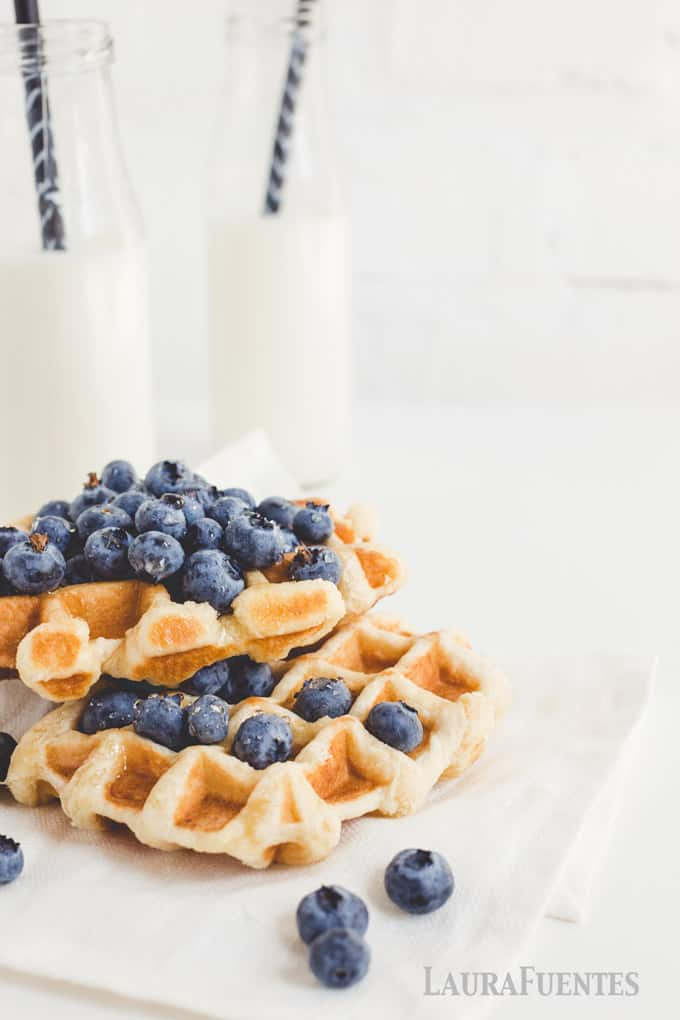 These classic buttermilk waffles are the perfect recipe to make and freeze! They are perfectly crispy on the outside with the sweet and tanginess only buttermilk provides
