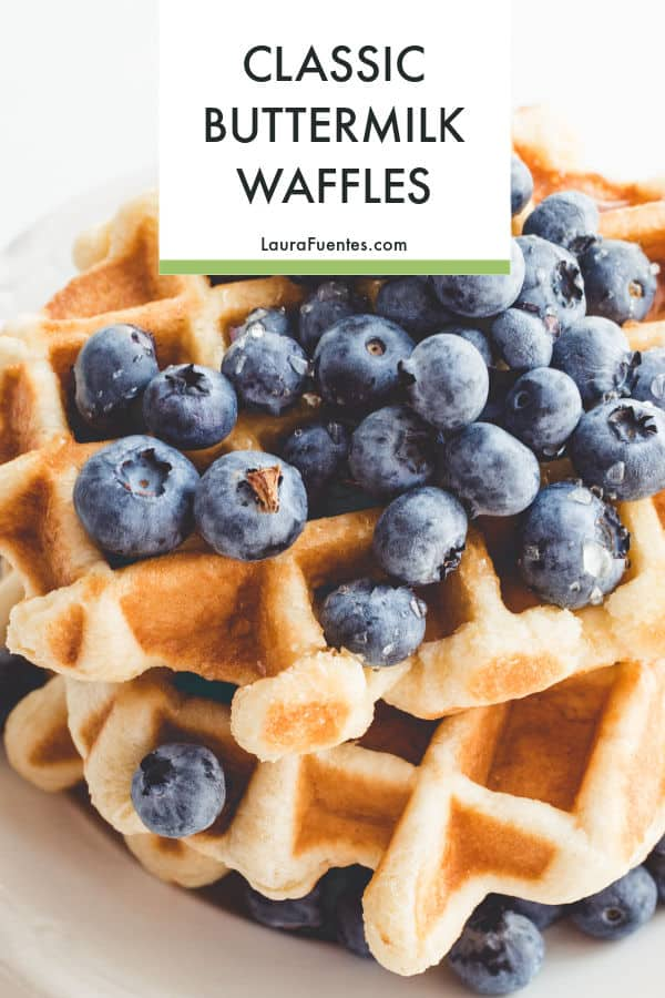 Classic, crispy waffles that are THE BEST you'll ever make.