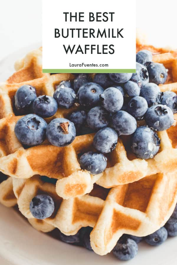 The Best Buttermilk Waffles recipe is here!! perfectly crispy on the outside and just the kind of texture you expect from the perfect waffle