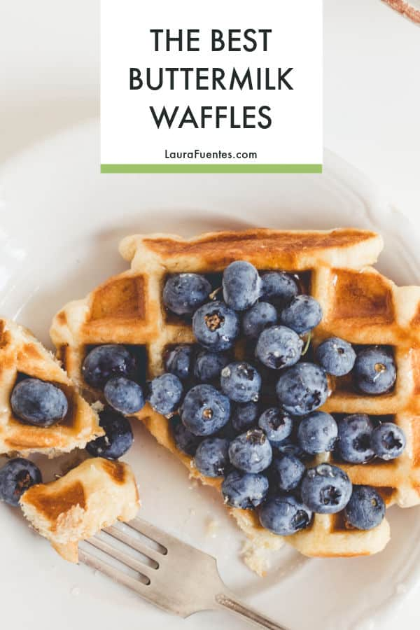 Hands down, the BEST Classic Buttermilk Waffles Recipe. Crispy on the outside and super easy to make.