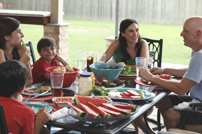 Always using the outdoor kitchen for quality family time.