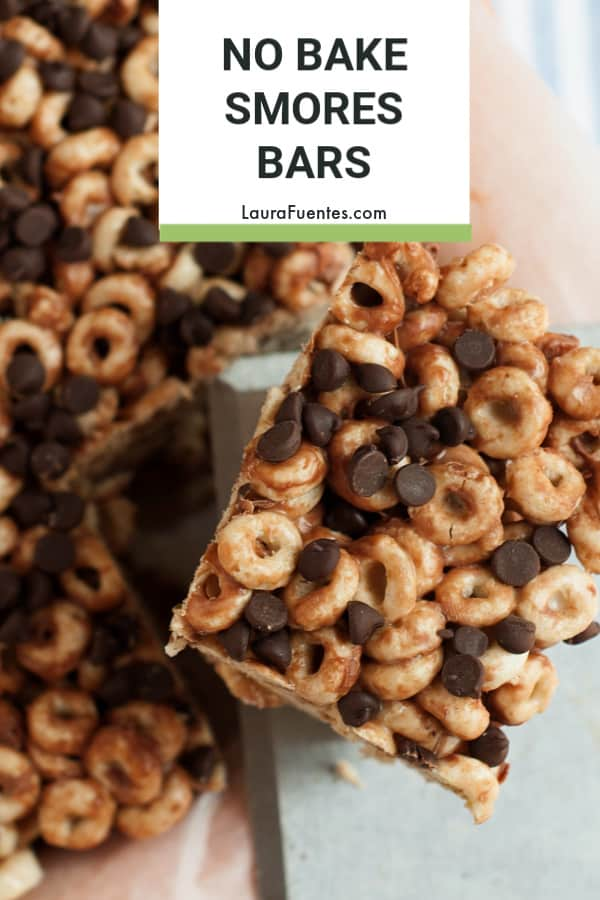 Snack Time - No Bake Smore's Bars