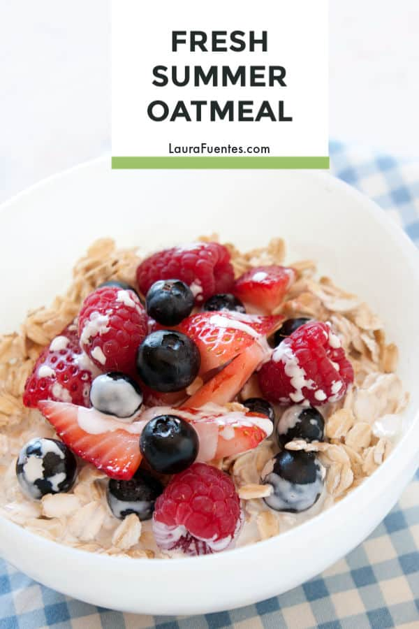 No-cook healthy oatmeal