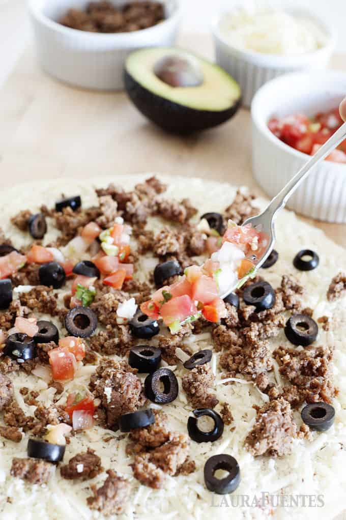 taco pizza with favorite toppings