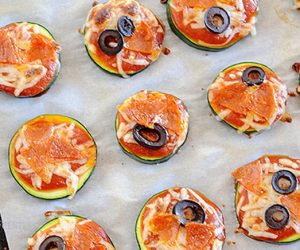 Low Carb Zucchini Pizza Bites