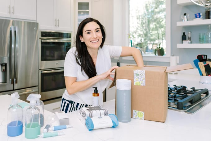 Grove's all natural cleaning set helps me keep my kitchen in tip top shape for back to school and gets delivered straight to my door