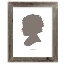 silhouette of small child, framed