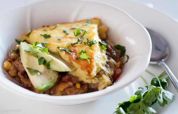 turkey tamale skillet pie