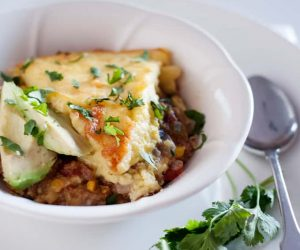 Turkey Skillet Tamale Pie