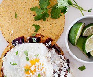 Roasted Chipotle Beets with Goat Cheese & Egg Tostadas