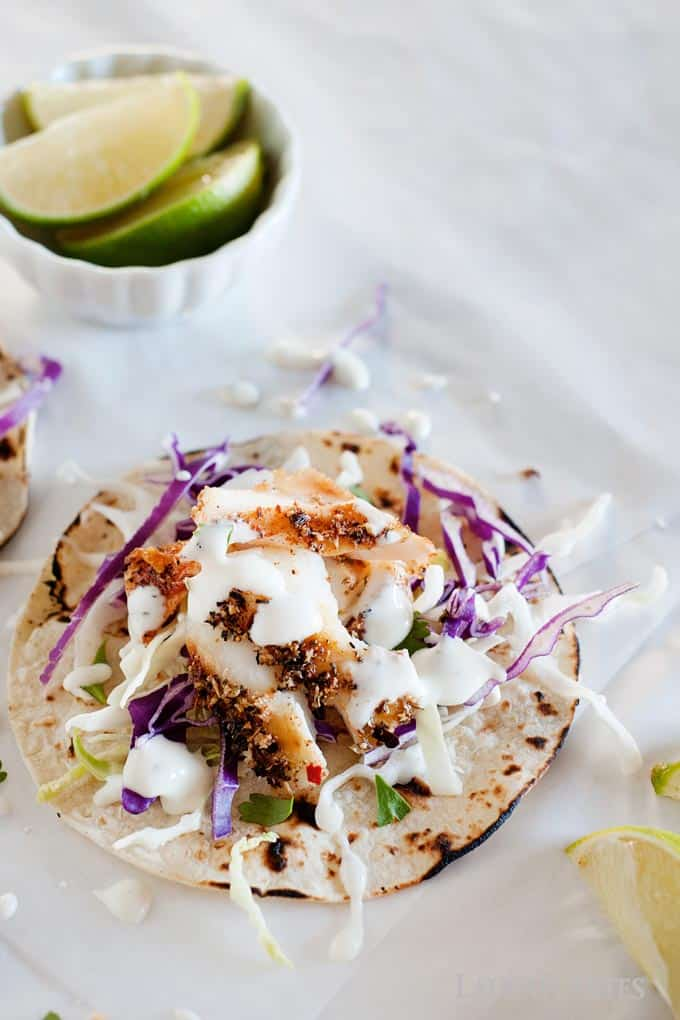 blackend fish tacos