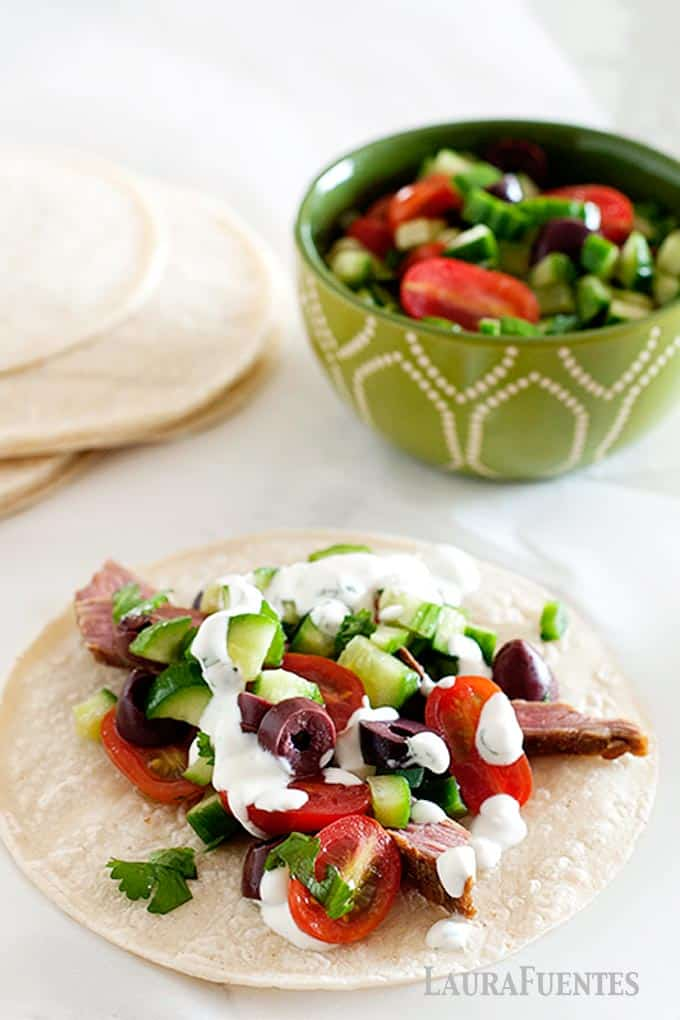 Cucumber Salsa for Steak Tacos