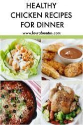 image collage of healthy chicken dinner ideas