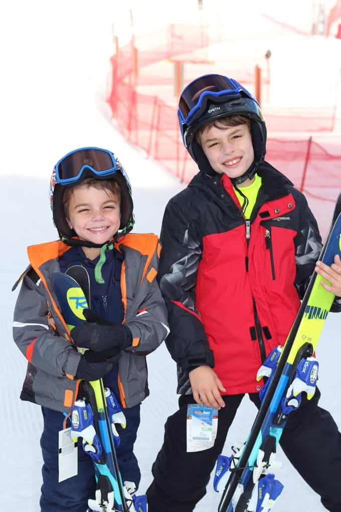 boys on the ski slopes
