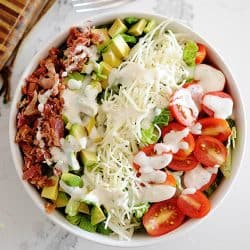 blt salad in a bowl