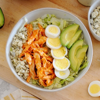 buffalo chicken salad in a large bowl