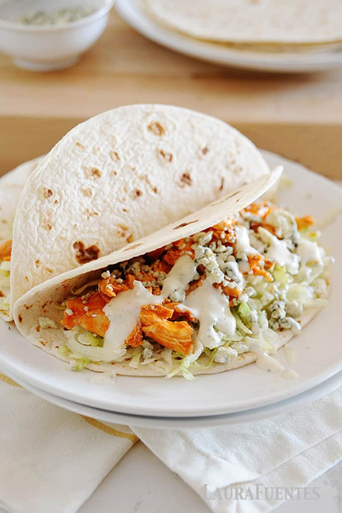 image: chicken taco on a plate