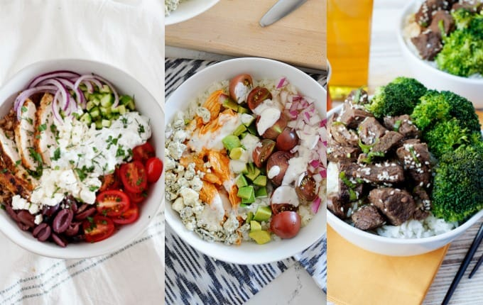 image: three side by side images of clean dinner ideas