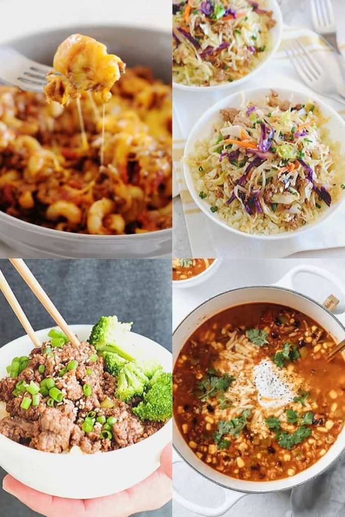 Image: Collage of different beef dinner recipes