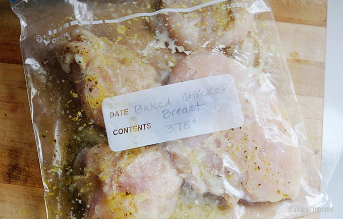 Image: chicken marinating in a zip bag