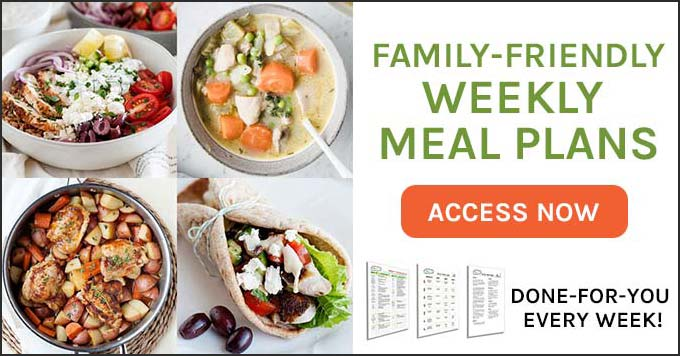 weekly meal plan for families