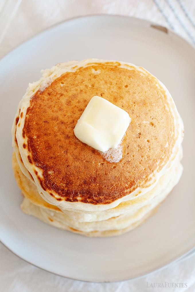 Image: Stack of pancakes with butter