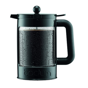 cold brew maker with coffee in it