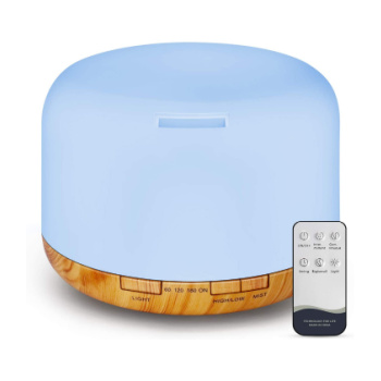 light blue essential oil diffuser with remote
